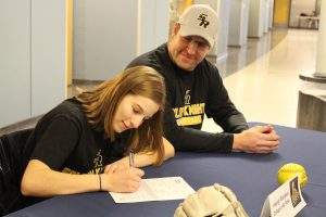 Haleigh Burgess signs letter of intent