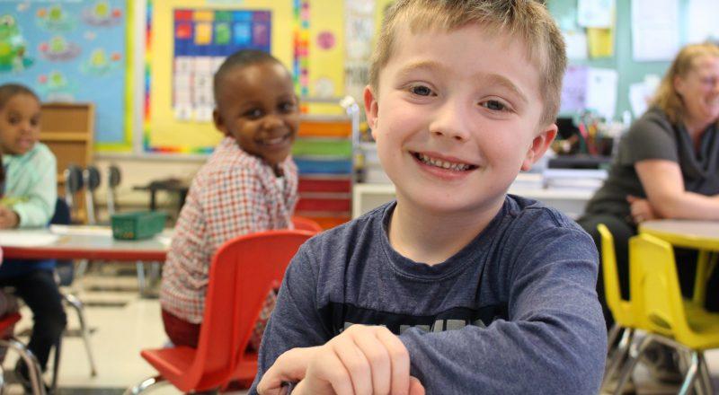 Lansing students smiling