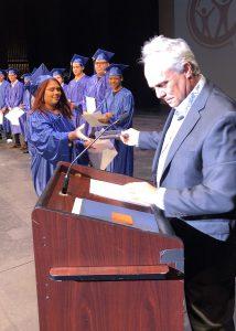 Truesell-Rivera accepting culinary award