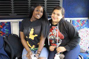 Students on CDTA bus