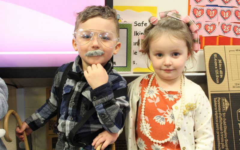 Harmony Hill students on 100th day
